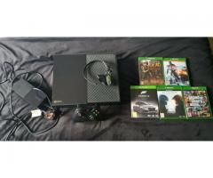 I am selling Xbox One 500Gb with Day one Controller,5 Games,Kinect and Original Box.