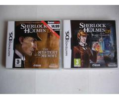 For Sale 2 X Nintendo DS Video Games Sherlock Holmes with manuals